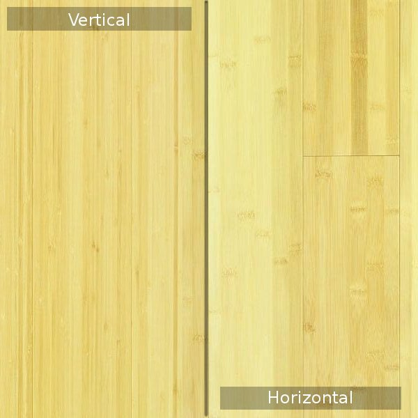 vertical or horizontal bamboo
