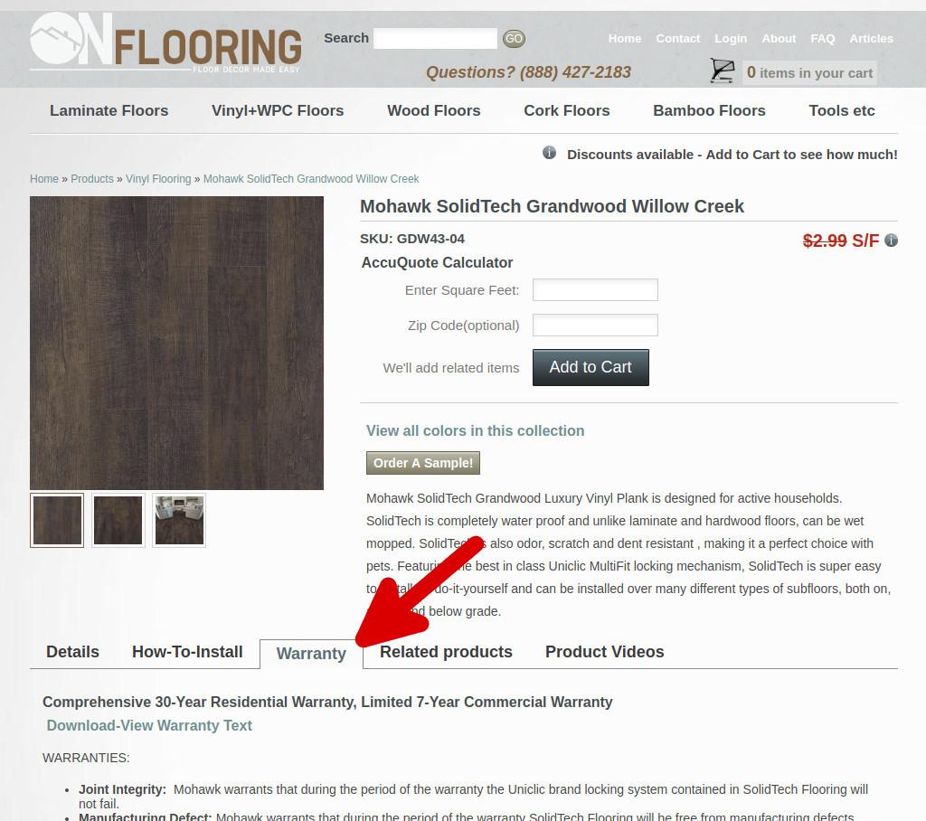Flooring Warranty Info Onflooring
